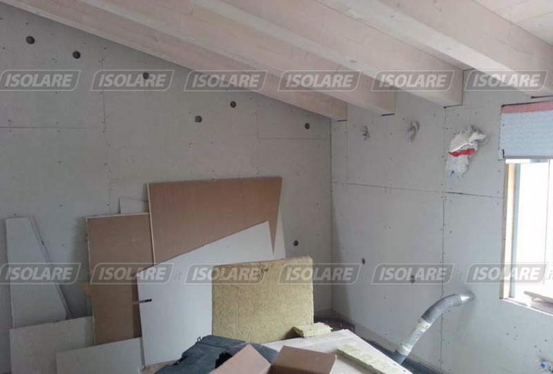 Coibentazione delle pareti senza intercapedini eseguito dall 39 interno - Isolare il tetto dall interno ...