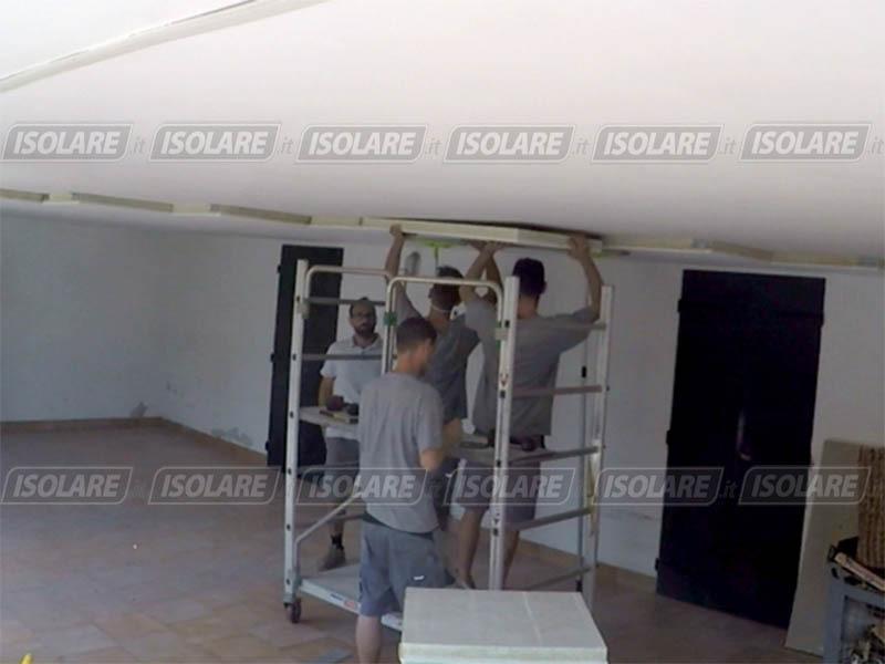 Coibentazione soffitto di androni garages piano pilotis o mansarde